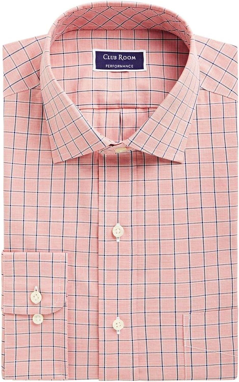 Clubroom Mens Orange Dress Shirt 16-32/33