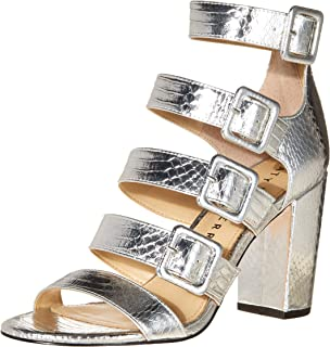 Katy Perry Women's The Lizette Heeled Sandal, Silver, 7.5