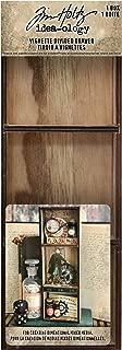 Tim Holtz, Advantus TH93793 Vignette Divided Drawer Wooden Box, Brown