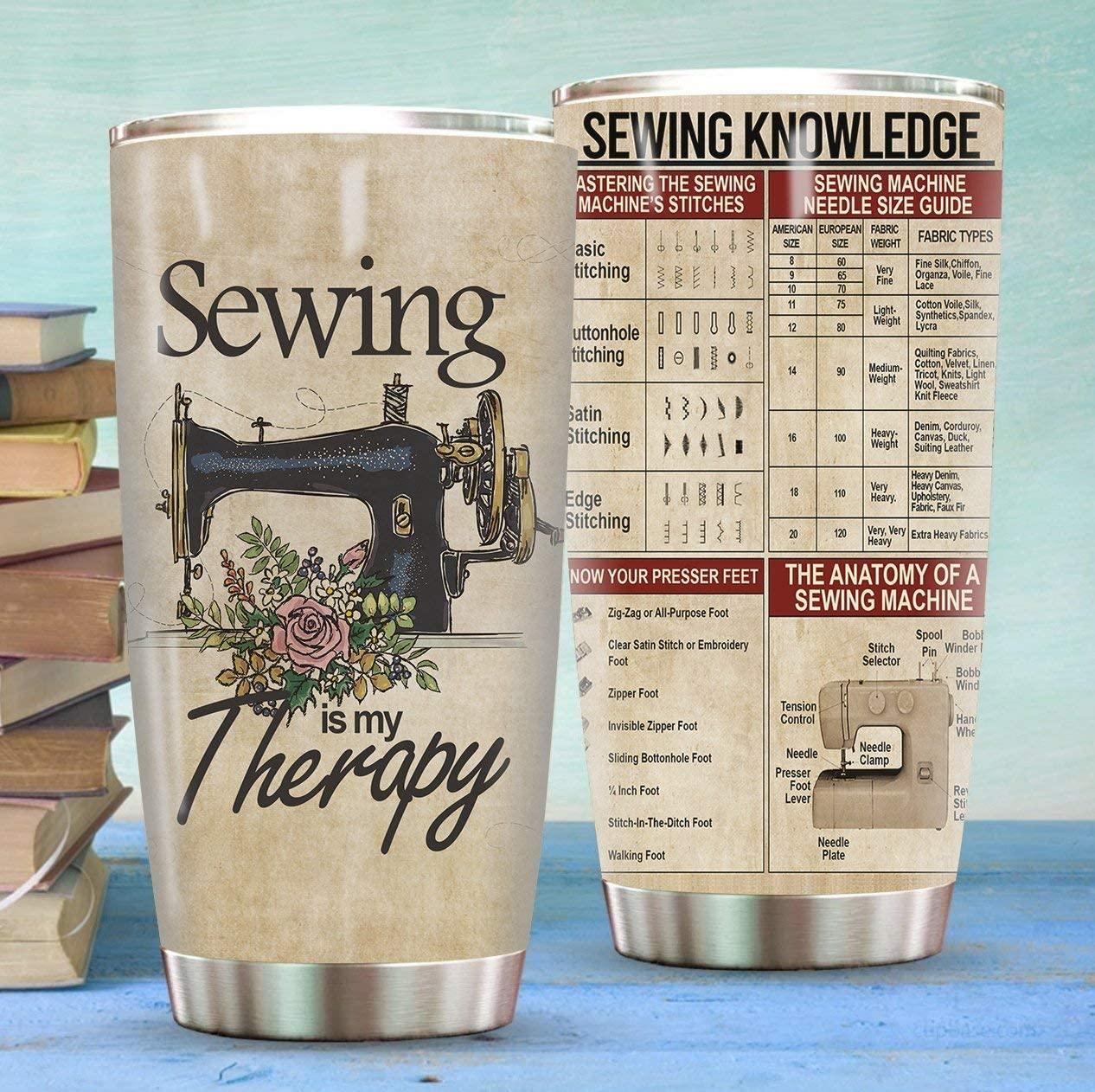 Japan Maker New Sewing Knowledge Tumblers Great interest Is My Therapy Sewer Gif Vintage