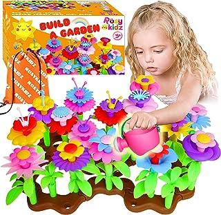 ROSYKIDZ Flower Garden Building Toys for Girls - [ 106 PCS ] STEM Toy Gardening Pretend Play Gift for Kids Age 3 4 5 6 Yea...