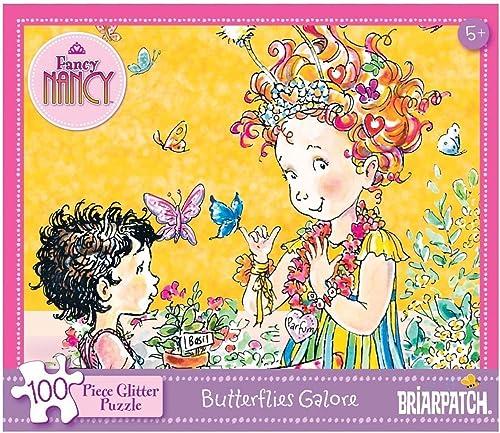Fancy Nancy  100 Piece Glitter Puzzle - Butterflies Galore by Fancy Nancy