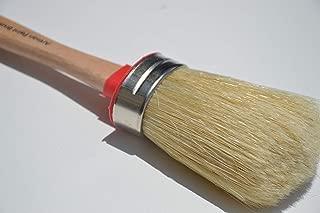 Chalkology Artisan Series - Oval Chalk Paint Waxing Brush, Large, Professional Brush, Pure Bristle, Varnished Wood Handle