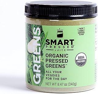 Smart Pressed Organic Greens Superfoods Juice Powder Single Serving Cold-Pressed Vegan..