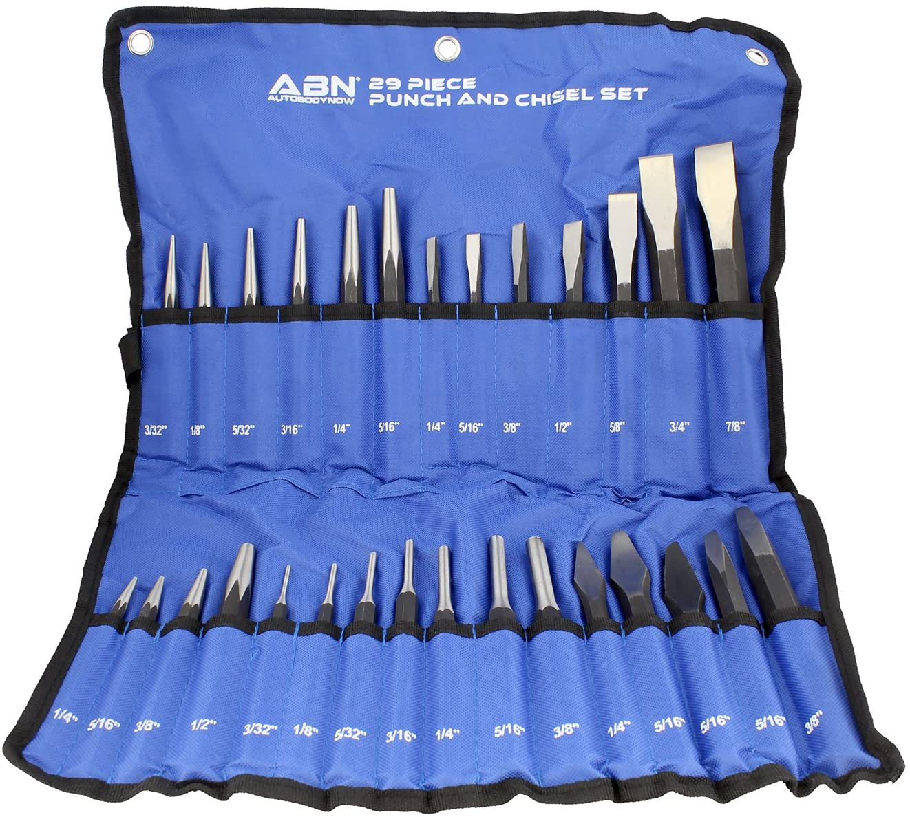 ABN Cold Popular shop is the lowest price challenge Chisel Set Automotive Punch Tool Max 68% OFF – Pu Kit 29-Piece
