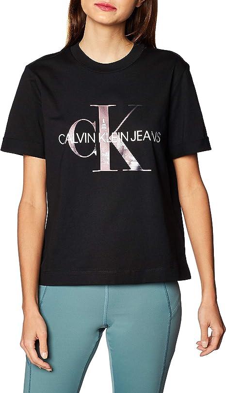 Calvin Klein New York Print CK tee Camisa para Mujer