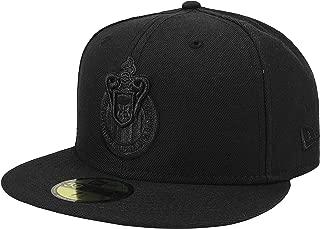 New Era 59Fifty Hat Chivas De Guadalajara Liga MX Soccer Black/Black Fitted Cap