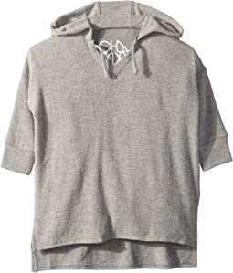 Super Soft Love Knit Split Side 3/4 Sleeve Pullover Hoodie (Toddler/Little Kids)