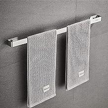 Handdoekenrek, Sikiwind Wandmontage Handdoekhouder Roestvrij Staal Handdoekrek 1-Arm Badkamer Handdoekstang 50cm (Zilver 1...