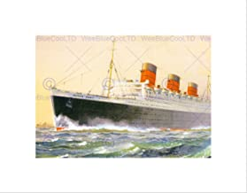 Painting Ship SAIL Boat RMS Queen Mary Art Print Picture B12X12580
