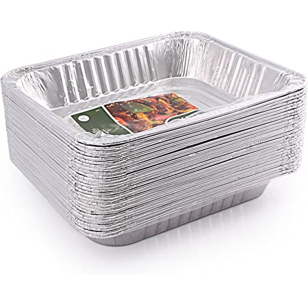 Jetfoil 1843 Aluminum Foil Steam Table, Half Size Deep, 9x13 Pans (30 Pack)