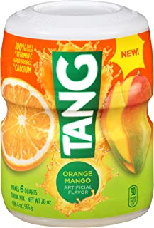 Tang Orange Mango Powdered Drink Mix (19.7 oz Canisters, Pack of 12)