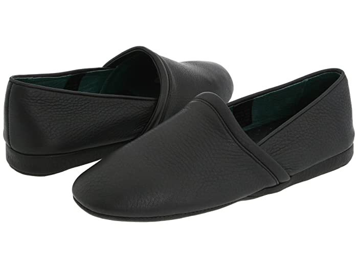 1940s Men's Fashion, Clothing Styles L.B. Evans Aristocrat Opera Black Leather Mens Slippers $74.95 AT vintagedancer.com