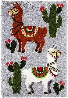 WYOUTDOOR Latch Hook Kits for Adults Kits De Crochet De Verrouillage Bricolage Kits De Fabrication De Tapis avec Motif De ...