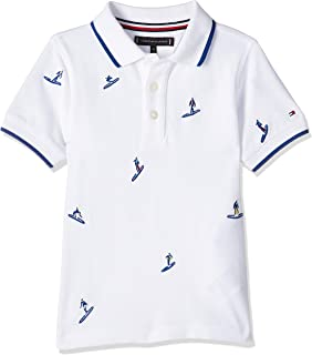 Tommy Hilfiger Boy's Surfer Embroidered Short Sleeve Polo