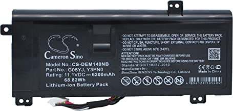 CameronSino Backup Batteries for DELL Notebook, Laptop Alienware 14D-1528, Alienware A14, Alienware M14X R1, Alienware M14X R3, Alienware M14x R4, Alienware P39G, ALW14D-1528, ALW14D-1728, ALW14D-1828