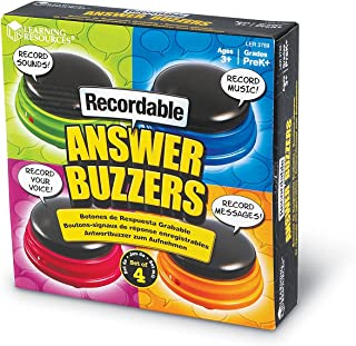 Learning Resources Recordable Answer Buzzers,...