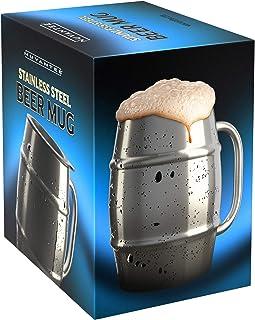 Nuvantee Jarra de Cerveza – Jarra de Acero Inoxidable