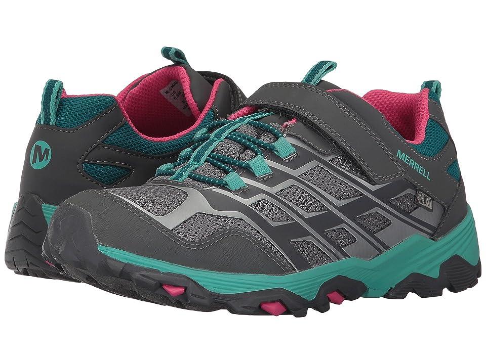 Merrell Kids Moab FST Low A/C Waterproof (Little Kid) (Grey/Multi) Girls Shoes