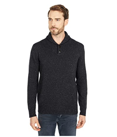 J.Crew Merino Nylon Shawl Pullover (Charcoal Donegal) Men