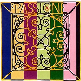 Pirastro Passione 4/4 Violin String Set - Medium Gauge with Ball End E