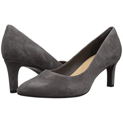 Clarks Calla Rose (Dark Grey Suede) High Heels