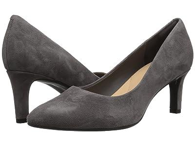 Clarks Calla Rose (Dark Grey Suede) High Heels