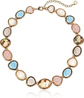 Women's Gold Tone Multi Stone Necklace, Size: 0