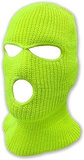 قناع للوجه بـ 3 ثقوب وطبقة منسوجة مزدوجة دافئة وحرارية للرجال والنساء، مناسب للتزلج ويمكن ارتدائه كقبعة صغيرة