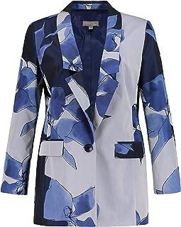 Women's Plus Size Long Lapel Floral Print Blazer 720358