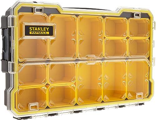 Stanley Fmst1-75779 Boîte À Outils Étanche Profi 2/3 Gamme FatMax - Couvercle Transparent - Attaches Plastiques - Éta...