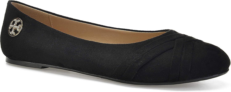 ComeShun Womens shoes Slip On Kitten Heels Comfort Dress Pumps