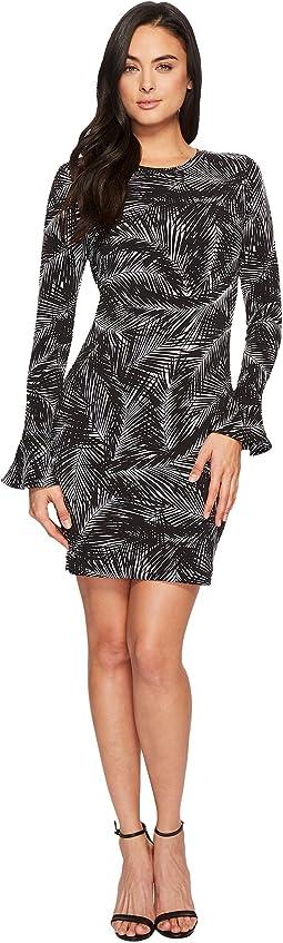 MICHAEL Michael Kors - Abstract Palm Flounce Dress