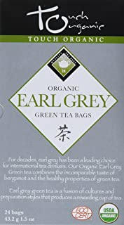Touch Organic Green Tea, Earl Grey, 24 Count (Pack of 12)