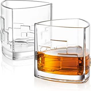 JoyJolt Revere Scotch Glasses, Old Fashioned Whiskey Glasses 11-Ounce, Ultra Clear Whiskey Glass for Bourbon and Liquor, Set Of 2 Glassware