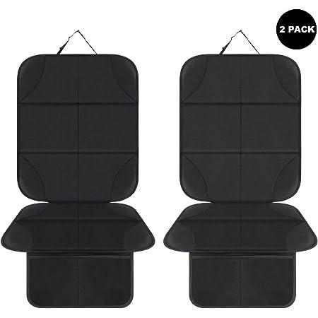 Aoafun 2 Pack Kindersitzunterlage Autositzschoner Isofix Geeignete Unterlage Für Kindersitze Sitzschoner Zum Schutz Ihrer Autositze Schwarz Auto