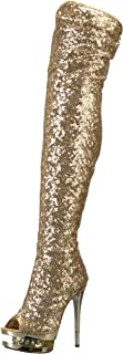Best chrome heel thigh high boots Reviews