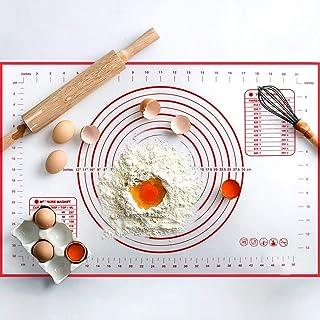 Tapis de cuisson antiadhésif avec comptoir de mesure, tapis de cuisson pour pâte à rouler, tapis de cuisson (XL)