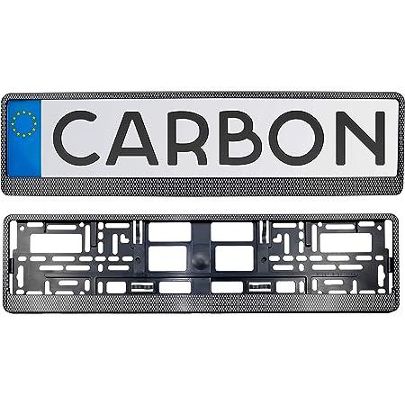 Kennzeichenhalter In Carbon Satz 2 Stück Kennzeichen Nummernschild Halter Für Eu Kfz Kennzeichen Einfache Montage Made In The Eu Auto