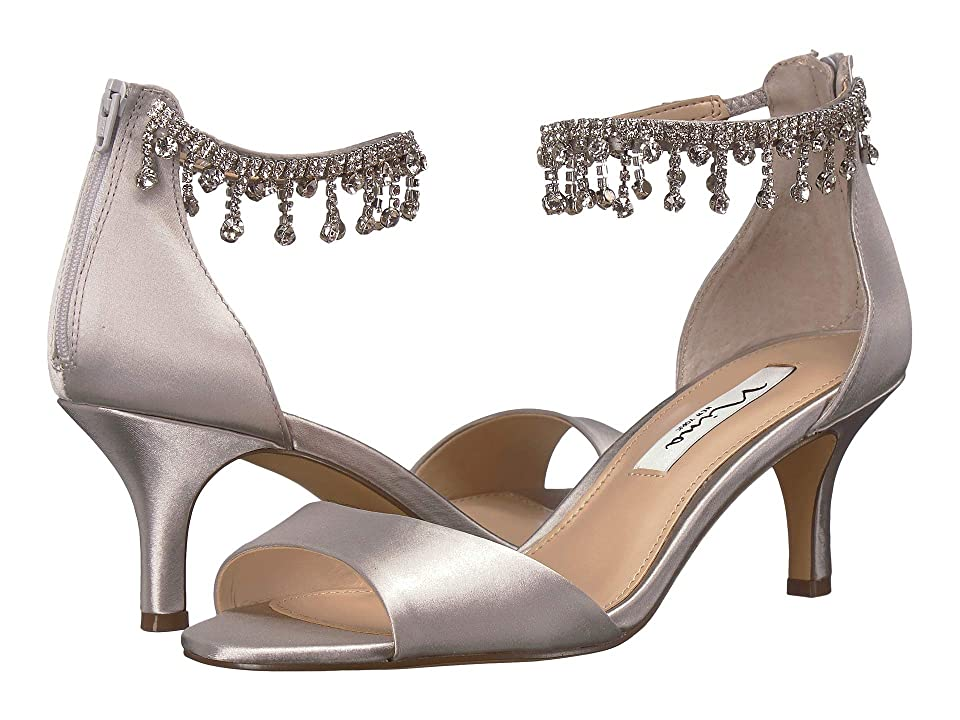 Nina Chianne (New Silver Satin) High Heels