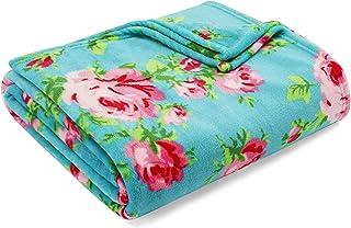 Betsey Johnson   Blanket Collection   Blanket - Ultra-Plush Fleece, Oversized Bedding & Luxuriously Warm, Machine Washable, King, Bouquet Day Turquoise
