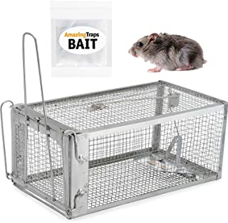 AmazingTraps The Amazing Humane Rat Trap w/Starter Bait - Catches Rats, Mice, Squirrels, Opossums, Moles, Weasels, Gophers, and Other Small Animals