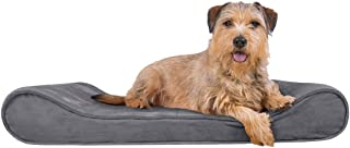 Furhaven Pet Dog Bed - Orthopedic Micro Velvet Ergonomic Luxe Lounger Cradle Mattress Contour Pet Bed with Removable Cover...