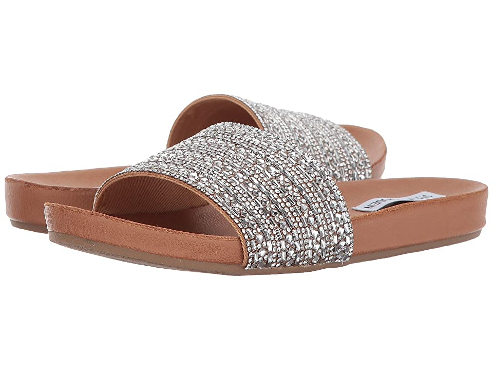 Steve Madden Dazzle Slide Sandal (Rhinestone) Women