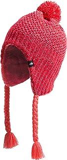 Girls' Purrl Stitch Earflap Winter Beanie Hat