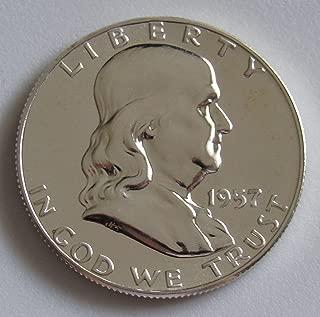 1957 GEM PROOF (PR63 PLUS) - FRANKLIN HALF DOLLAR 1/2 Proof US Mint