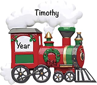 Kids Christmas Ornaments 2021 – Charming Holiday Train Personalized Christmas Ornaments 2021 – Custom Christmas Ornament 2...
