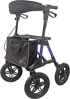 Trendmobil SILVA opvouwbare lichtgewicht rollator leuningrollator incl. stokhouder en boodschappentas met luchtbanden