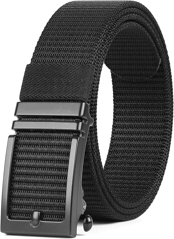 XZQTIVE Mens Nylon Popular Belt It is very popular No Ratchet Thicken Web Holes Breathable
