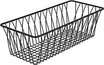 Best rectangular black wire basket Reviews